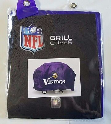 Minnesota Vikings Economy Team Logo BBQ Gas Propane Grill Cover - NEW Minnesota Vikings Grill Cover