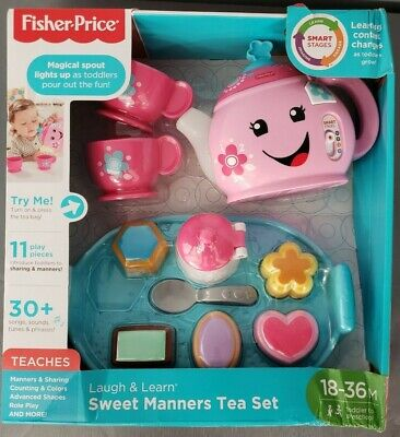 *NEW* Fisher-Price Laugh & Learn Sweet Manners Tea Set Damaged Box - 6B
