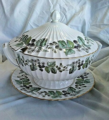 Royal Worcester LAVINIA Covered Soup Tureen Handles Footed W/Under Plate> Z2821