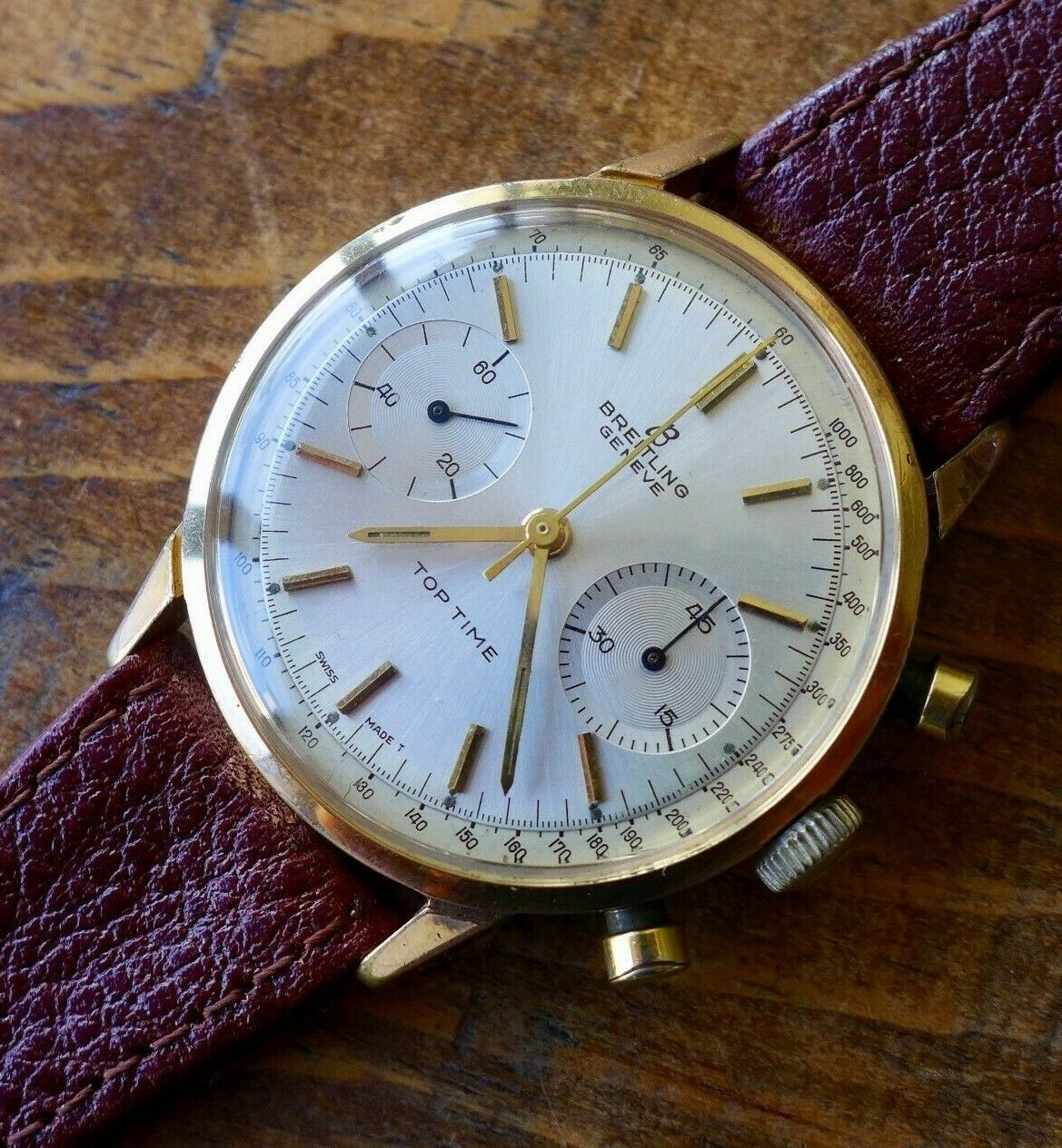 A  VINTAGE 1960s BREITLING TOP TIME CHRONOGRAPH REF. 2000 WRISTWATCH - watch picture 1