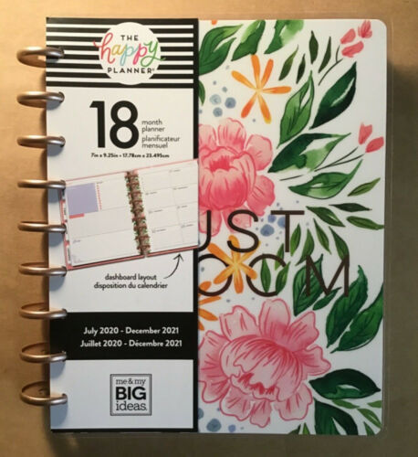 """NEW! 2020-2021 me & my BIG Ideas The Happy Planner """"DETAILED FLORALS"""" Planner"""
