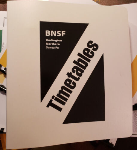 """BNSF Employee Timetable Binder 3 Ring 9x8"""" ETT Special Instructions"""