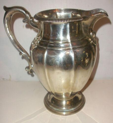 "10"" Vintage Gorham Sterling Silver water pitcher 531/1  4 7/8 pint  1020gr"