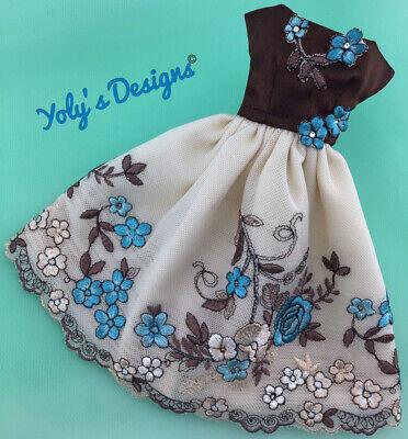 LIMITED ED SWAROWSKI Handmade Dress FOR Barbie Vintage,Silkstone & Repro Doll