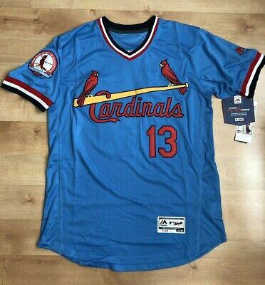 Matt Carpenter St. Louis Cardnials Jersey #13 light Blue pullover Mens  WS patch ()