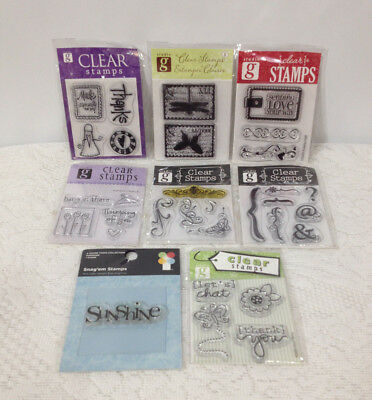 Mixed Occasion SUNSHINE, FLOWER, BUTTERFLY & MORE Clear Rubber Stamps Lot  ()