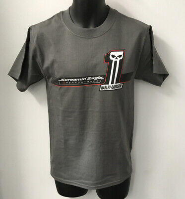 Harley Davidson Mens Screamin' Eagle One Short Sleeve T-Shirt-Gray R003641