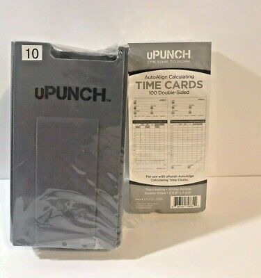 Upunch Time Cards And Holder For Hn4000 Time Clock 100pack Hntcl2100