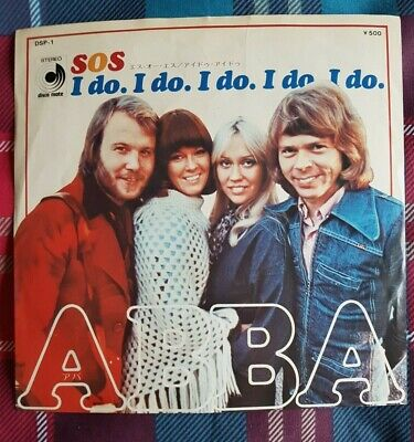 "ABBA - 'S.O.S.' Japan 7"" & PictureLyric Insert"