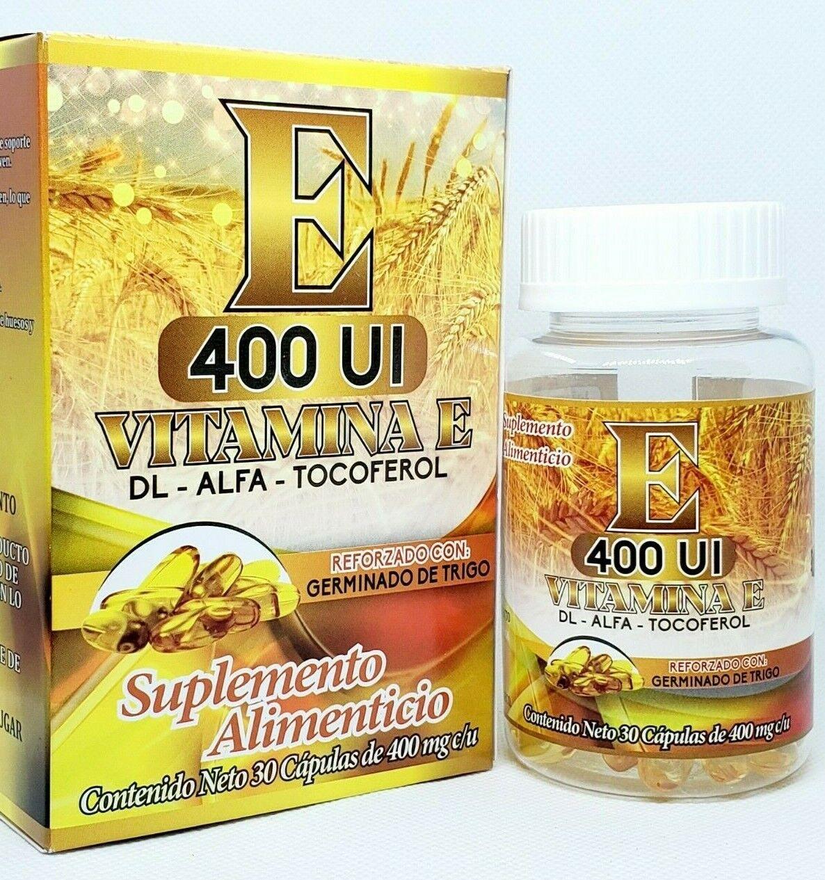 Vitamin E Tocoferol 400 UI Vitamina E refrozado con germinado de trigo