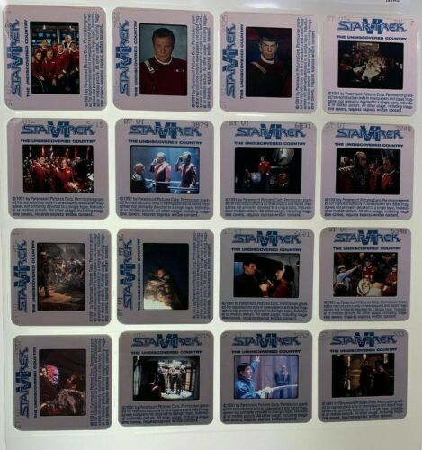 Star Trek VI The Undiscovered Country Movie 35mm Slides Press Kit Vtg Lot of 16