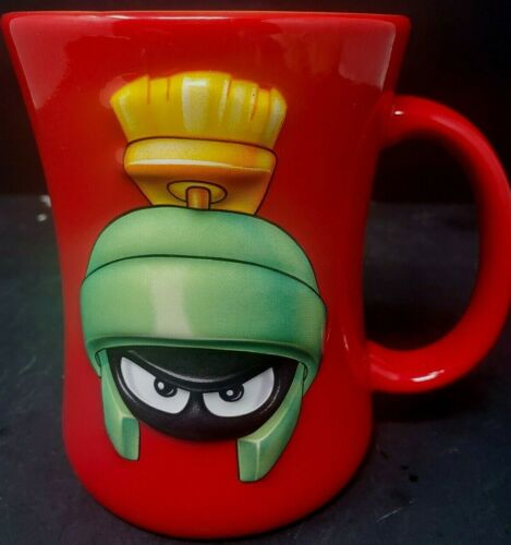 Marvin Martian Red Coffee Mug 3D Images Looney Tunes Xpres 2001 Design HTF