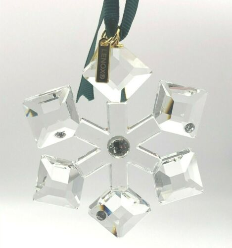 """Kate Spade Collectible Crystal Ornament """"First Snow"""" Factory Brand New for 2020"""