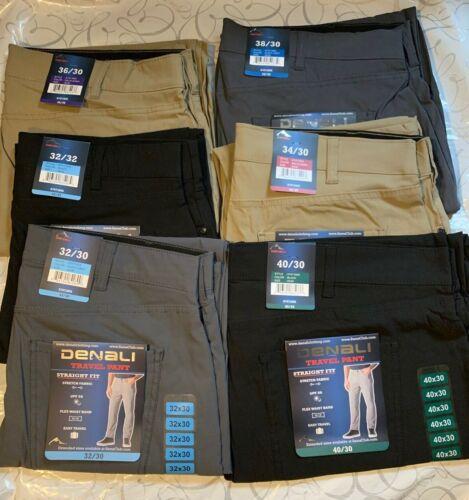Denali Upf 50 Travel Pants Stretch Nwt Straight Fit Flex Waist Band Easy Travel