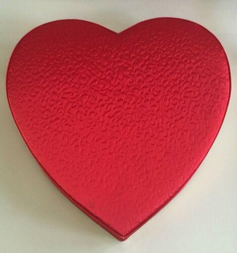 Vtg Valentines Heart Candy Box Textured Satin - Needs TLC