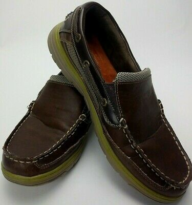 Croft and Barrow mens boat shoes leather slip on sizes 9.5 Med. FREE