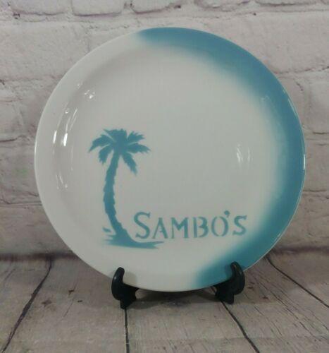 Vintage Jackson China Airbrush Restaurant Plate SAMBO