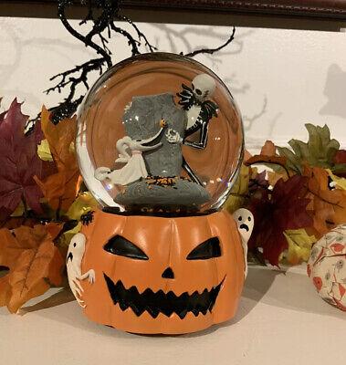 Nightmare Before Christmas Jack Zero Pumpkin Musical Snow Motion Water Globe