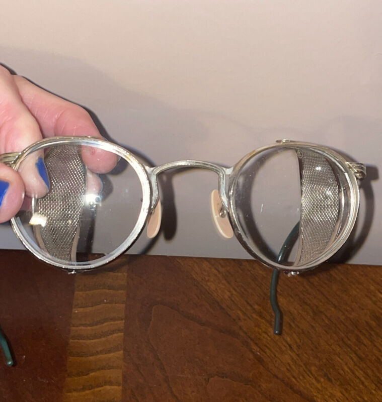 VINTAGE AMERICAN OPTICAL AO STEAMPUNK Safety Glasses SIDE MESH Goggles