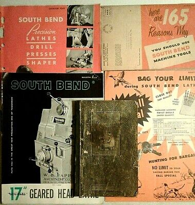5 Vintage South End Lathe Booklets Catalogs Bulletins: How to Run a Lathe, 1941