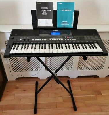 Yamaha Electric Keyboard PSR-E433 88 Keys Barely Used *FULLY TESTED * & STAND!