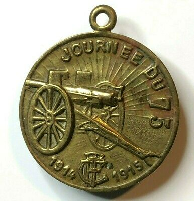 WW1 French Soldiers Journee Du Poilu 1915 Badge The Hairy Ones Medal.