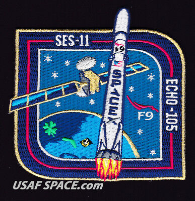 New Ses 11 Echo 105   Spacex Original Falcon 9 F9 Launch Satellite Mission Patch
