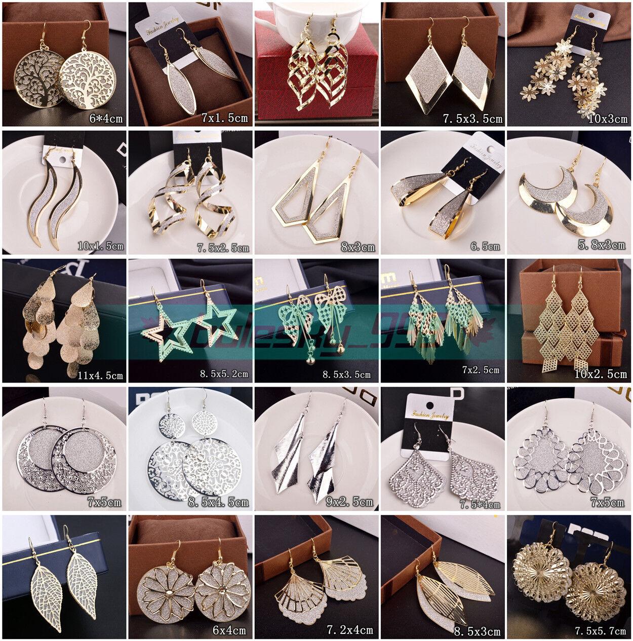 Jewellery - HOT Women Lady Hook Dangle Drop Fashion Earrings Ear Stud Wedding Jewelry Gift