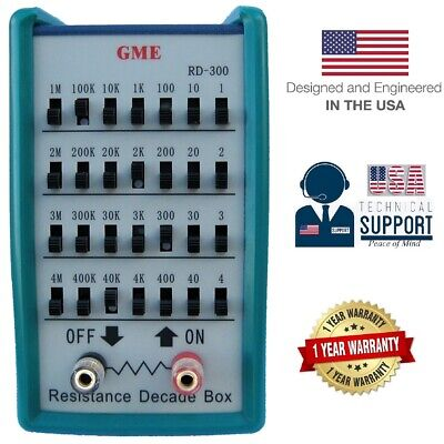 GME RD-300 Resistance Substitution Decade Box 1-Yr USA Warranty 0~11,111,110 Ohm