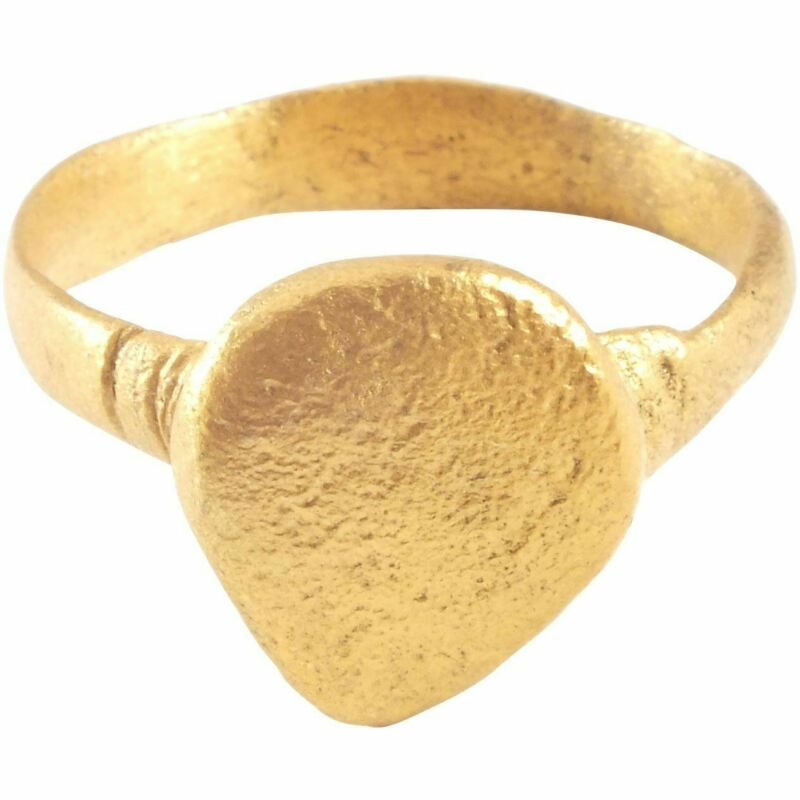 ANCIENT VIKING WARRIOR'S HEART RING 850-1000 AD SIZE 9 ½