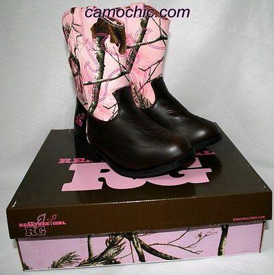Realtree Rosa Camouflage Cowgirl Stiefel, Kleinkind Mädchen Kinder Staub Cowboy