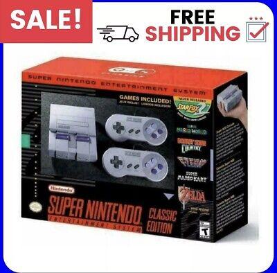 SNES Classic Mini Edition Super Nintendo Entertainment System Brand 21 Games