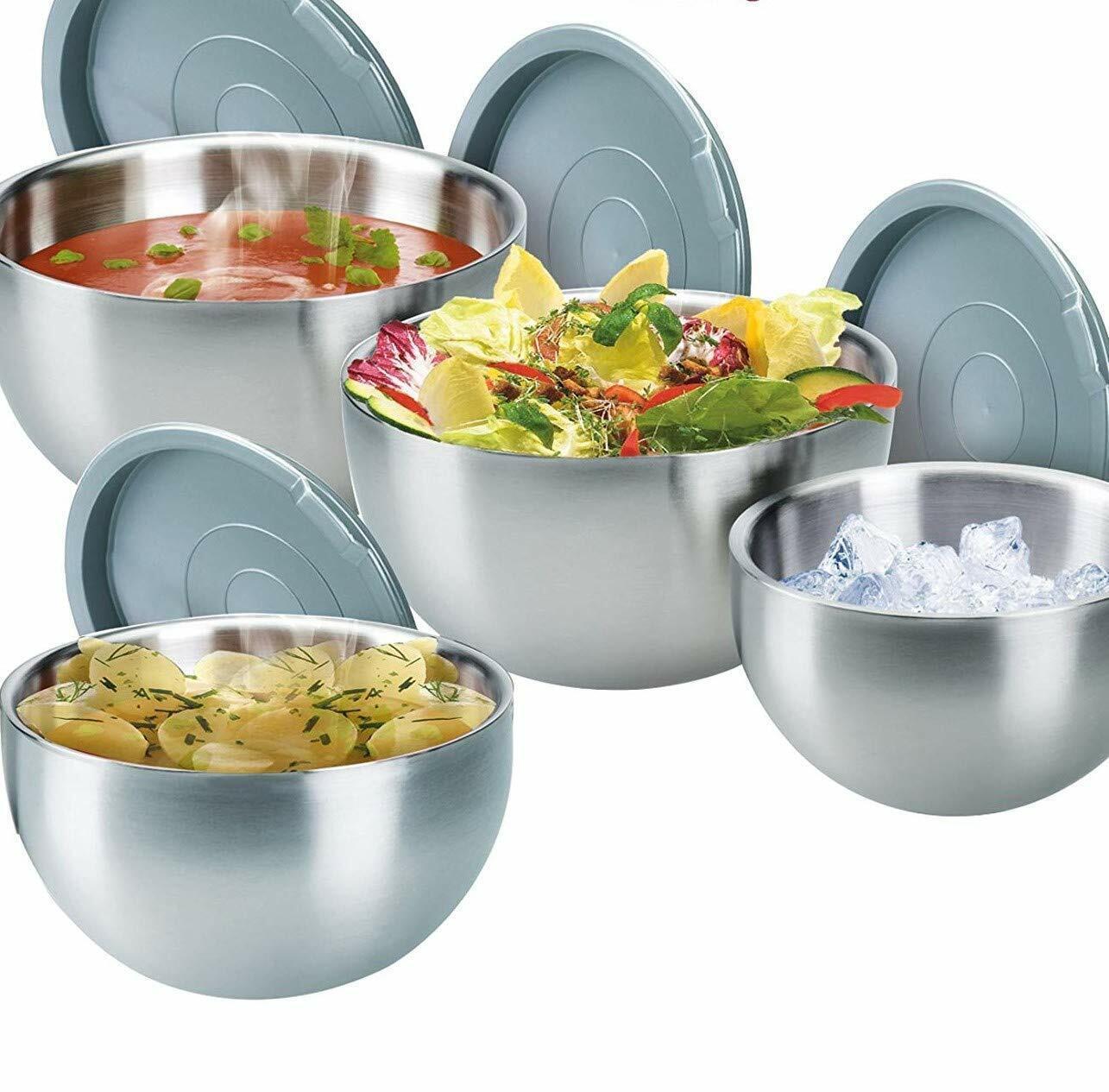 Thermoschüssel, Isolierschüssel  Edelstahl mit Deckel heiß und kalt 1,3 - 5,5 L