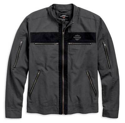 HARLEY-DAVIDSON® MEN'S ZIPPED CASUAL CANVAS JACKET 97519-19VM LARGE