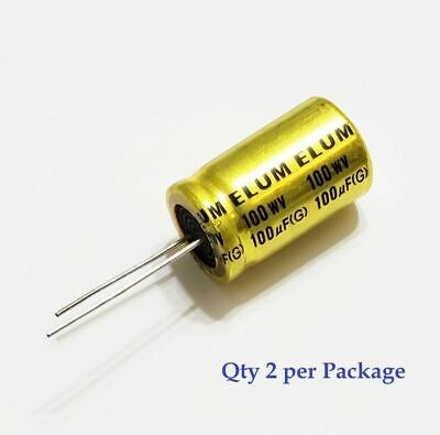 100uf 100v Non-polarized Electrolytic Radial Lead Capacitor Qty 2 Np Bp