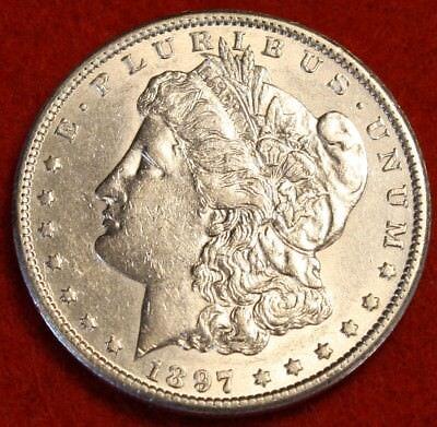 1897 S  1 Morgan Dollar Bu 90  Silver Liberty Collector Coin Chk Out Store Mg319