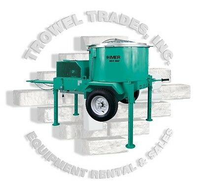Imer Mortarman 360 Imer Mortar Mixer 11 Hp Honda Imer 1194580 Vertical Shaft Mix