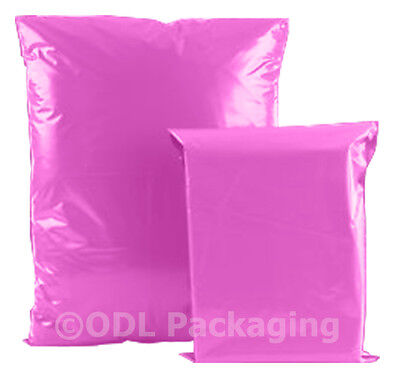 100 Pink Plastic Mailing Postal Bags 305x405 12