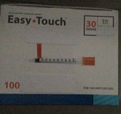 Lot Of 100 Easy Touch-1ml1cc-u100-516-30gauge-disposable Syringes-free Ship