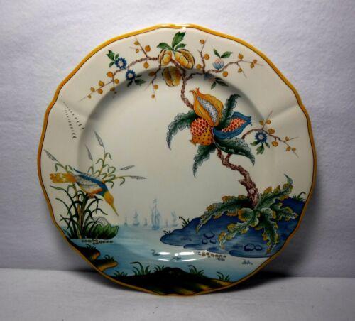 "GIEN France china MAGELLAN pattern Chop Service Plate Platter - 12-3/8"" - repair"