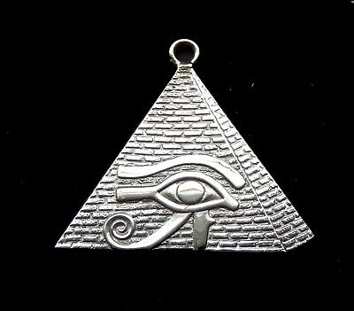 Sterling Silver Charm - Pyramid and Udjat Eye  /Royal Nameplate