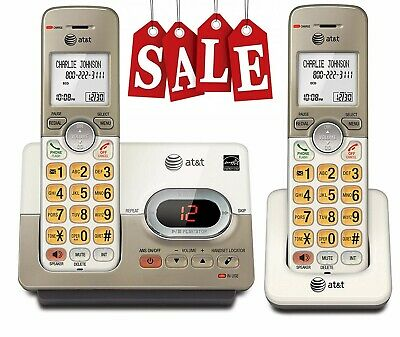 AT&T 2 Handset Expandable Cordless Phone with Answering System Extra Large Keys