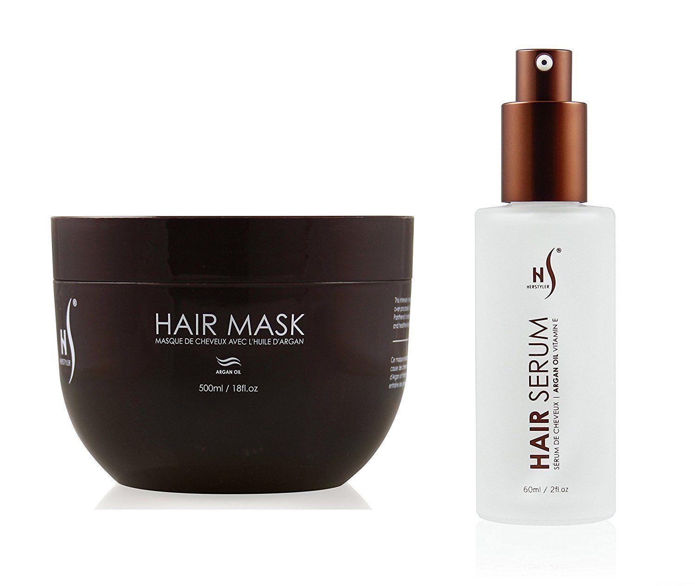 Hair Mask And Argan Oil Hair Serum Set | Deep Conditioning M