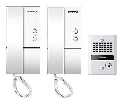 COMMAX 1 to 2 Audio Intercom with Vandal-proof Doorbell DP-LA01/DR-2GN