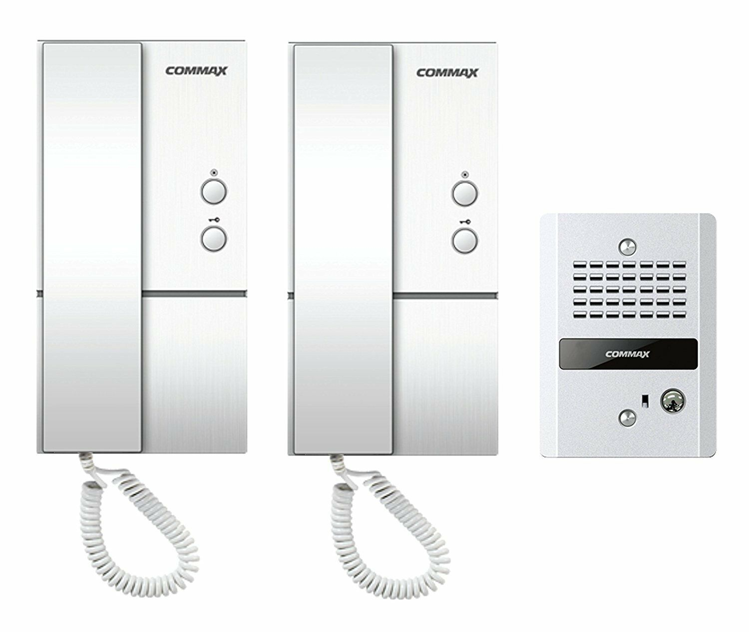 COMMAX 1 to 2 Audio Intercom with Vandal-proof Doorbell DP-LA01/DR-2GN
