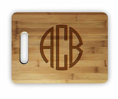 Laser Engraved Bamboo Cutting Board - Custom Personalized Laser Engraved Bamboo Wood Cutting Board Wedding Names Date