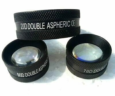 Double Aspheric Lens 20d 90d 78d Black Colour Brand New Kfw Lens Combo Pack