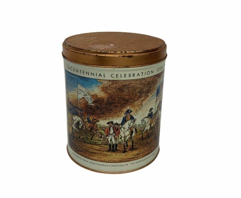 1975 Bicentennial Celebration 1776-1976 Cornwallis Surrender Tin Can JL Clark