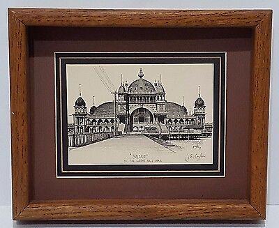 (Rare J.E. COYLE Signed Print Framed