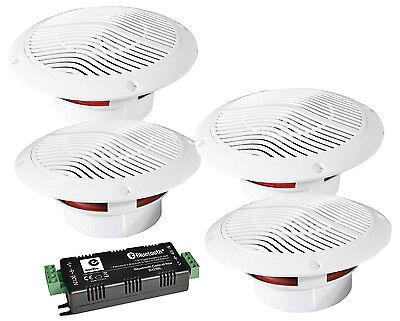 4x 13cm Deckenlautsprecher Bluetooth Funk Lautsprecher Boxen Badezimmer